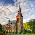 Nice Catholic Church in eastern Europe Royalty Free Stock Photography