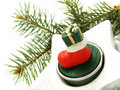 Nice Christmas candle ornament Stock Photo