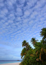 Nice clouds in paradise Royalty Free Stock Photo