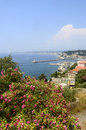 Nice cote d azur alpes maritimes provence alpes france panoramic view in a sunny summer day Stock Photos