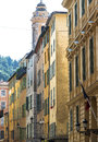 Nice cote d azur alpes maritimes provence alpes france typical old street Stock Images