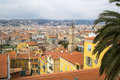 Nice cote d azur france city bird eye view Royalty Free Stock Photo