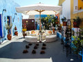 Nice decorated garden in Oia Santorini