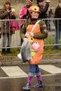 Nice dressed up woman at Carnival parade, Stuttgart