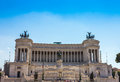 Nice Equestrian monument to Victor Emmanuel II near Vittoriano in Rome Italy Royalty Free Stock Photo