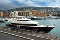 Nice expensive yacht anchored in the port france april within a de on april france de was started Royalty Free Stock Images