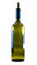 A nice exquisite bottle of wine on a white background Royalty Free Stock Photos