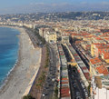 Nice france aerial photo of french riviera in Stock Image
