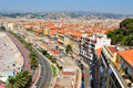 Nice france aerial view of the city of in Stock Images