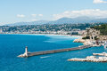 Nice france mediterranean coastline near Royalty Free Stock Photo
