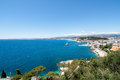 Nice france mediterranean sea near the city of Stock Photography