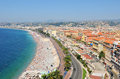 Nice france panorama of the old city of in Royalty Free Stock Photography