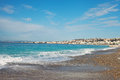 Nice french riviera mediterranean beach at Royalty Free Stock Photos