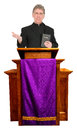 Nice friendly christian priest minister pastor preacher giving worship sermon god morality religion hot topic man has nice smile Stock Image