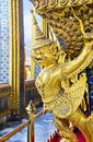 Nice garuda gold in wat phrakaew of thailand Royalty Free Stock Photography