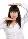 Nice girl with eyeglasses Stock Image