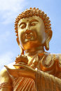 Nice gold buddha face Stock Photography