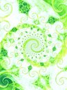 Nice Green Leaves Vines Spiral Royalty Free Stock Photo