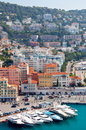 Nice harbour at Mediterranean Sea Royalty Free Stock Images