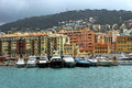Nice harbour and port the of france Stock Image