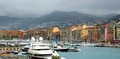 Nice harbour and port france april colorful buildings boats within a de on april in france de was started in Stock Image