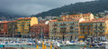 Nice harbour and port france april colorful buildings boats within a de on april in france de was started in Stock Photos
