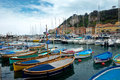 Nice harbour and port france april colorful buildings boats within a de on april in france de was started in Royalty Free Stock Photos