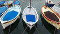 Nice harbour and port old classic wooden boats in the old france Royalty Free Stock Image