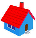 Nice house insulated Royalty Free Stock Photos