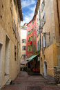 Nice houses in the old town of city Royalty Free Stock Photos