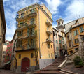 Nice houses in the old town of city Royalty Free Stock Photography