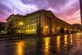 Nice houses at sunset after rain, Washington Royalty Free Stock Photo
