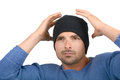 Nice image of a man in skull cap Stock Image