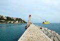 Nice lighthouse in the port of france Stock Photography