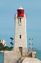 Nice lighthouse in the port of france Stock Images