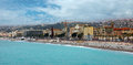Nice luxury resort of french riviera france april architecture along promenade des anglais on april in france it is a symbol the Stock Photography