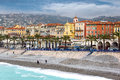 Nice luxury resort of french riviera france april architecture along promenade des anglais on april in france it is a symbol the Stock Photos