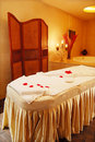 Nice massage room, Mediterranean interior Royalty Free Stock Images