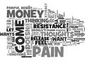 A Nice Mind Trick To Release Your Resistance To Money Word Cloud Royalty Free Stock Photo