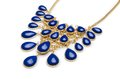 Nice necklace isolated on the white Royalty Free Stock Photo