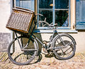 Nice old bike front window Royalty Free Stock Photography