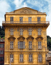 Nice old building at the cours saleya street france Stock Photography