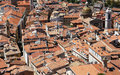Nice old town from above Royalty Free Stock Photos