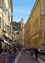 Nice old town france may architecture of on may in france Royalty Free Stock Images
