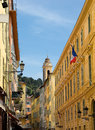 Nice old town houses in the of the city of france Royalty Free Stock Photography