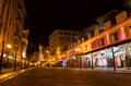 Nice old town at night city of france Royalty Free Stock Photos