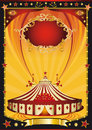 Nice orange and black circus poster Royalty Free Stock Images