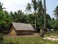 Nice original house in vanuatu of leaves lénakel village tanna island Stock Photo