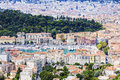 Nice panorama seen from mt boron french riviera france Royalty Free Stock Photography