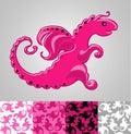 Nice pink dragon Royalty Free Stock Photo